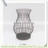 antique metal vase candle holder