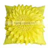 3D New design yellow waterproof outdoor sun flower cushion                                                                         Quality Choice