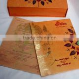 Foil printed Indian wedding card