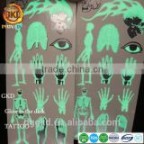 glow in the dark body personal care beauty metallic flash temporary foil gold flash metallic tattoo sticker