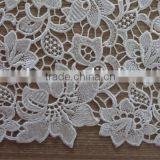 2015 Latest wholesale bulk antique lace fabric embroidery design for garment