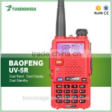 Red color licence free walkie talkie baofeng dual band mobile radio baofeng uv-5r ham radio