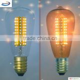 Edison led lamp SMD bulb ST64 E27/E26 3W light decoration indoor clearance&amber glass