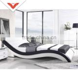 Italian style B804 modern sleeping design leather bed frame