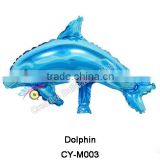 2016 wholesale dolphin shaped helium balloons animal shape foil balloons mini size mylar balloons