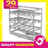 29 Years Fabrication Service Household Brushed Metal Cabinet Pull Out Wine Rack