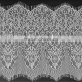 New design embroidery white and black eyelash lace trimming guipure 33cm wide 3meter in a pcs