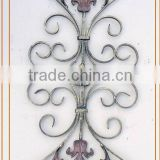 decorative outdoor wrought iron stair railing panels