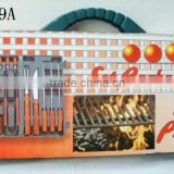 BBQ set with 18 pcs,Best price BBQ tool,Top sale bbq tool set stainless steel bbq utensil set BBQ tool