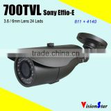 Sony CCD Effio-e 700tvl 960h cctv camera bnc output ip66 waterproof bullet outdoor surveillance system