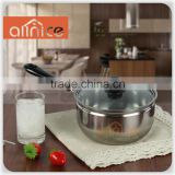 Encapsulated Base 18/20cm Stainless Steel cooking pot with bakelite handle