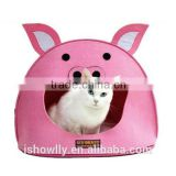 1pcs Luxury Pig Mouth Pet Dog Cat House Removable & Washable Dog Bed Kennel