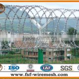 from china manufacture Security Stainless Steel Galfan coated steel wire 0.5mm/razor barbed wire