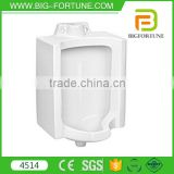 ceramic elongated design corner wall mount urinal with sensor