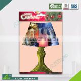 BSCI factory audit Christmas 3D Eco-friendly decorative waterproof removable lamp wall sticker