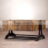 INDIA ANTIQUE RECLAIMED RUSTIC WOOD COFFEE TABLE , INDUSTRIAL COFFEE TABLE IN RUSTIC WOOD