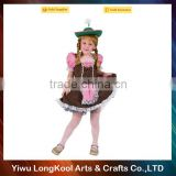 New arrival high quality kids oktoberfest costume beer girl sexy costume