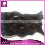 "New arrival Brazilian cheap 100% remy human natural hair clip in hair extension 11"" wide with 5 clips factory price"