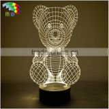 NEW product 3D stereoscopic LED table light/christmas decoration LED night light /led table lamp                                                                         Quality Choice