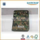 China manufacture military camouflage organizer, Customer own design made fabric organizer, with 6 rings/4-6 cards slots/zipper