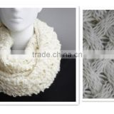 100% Acrylic Knitted Infinity Scarf