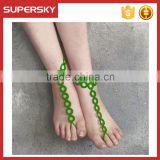 V-990 Elegant Handmade Choice Crochet Barefoot Sandals Anklet Body Jewelry Wholesale Turkey Bracelet Anklet Chain