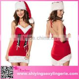 hot blue sexy photos Christmas Babe Halter dress red unique christmas costumes
