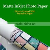 Top Quality 180gsm Matte Photo paper for inkjet print, Waterproof A4 A3 roll Paper Photo