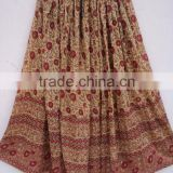 Broom stick girls wear long casual skirts & dress / 100% indian made Crinkle skirts in cotton voile fabric