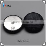 black Leather covered shank button for coat