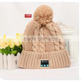 High Quality Bluetooth Beanie Hat With Headphone Custom Winter Kintted Hat With Bluetooth