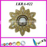 2014 New Design rhinestone Brooch applique Handmade Welding crystal trim for bridal clothing set
