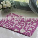 100% polyester door mat bath mat with TPR backing carpet rugs microfiber carpet microfiber shaggy carpet                                                                                         Most Popular
