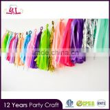 Color Party Tissue Paper Tassel Garland
