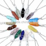 Crystal Crafts Jewelry Necklace Natural Quartz Crystal 7 Chakra Pendant for Reiki Healing New Agate Metaphysical Necklaces