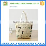 2015 wholesale brand elegance second hand women cute cat canvas tote bags