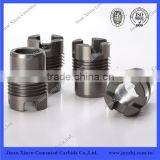 PDC drill bit use wearable tungsten carbide oil nozzles