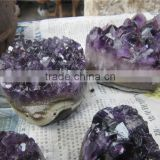 2015 eye-catching crystal grape clusters amethyst geode hedgehog
