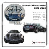 On promotion!! Prior-design PD style FRP and carbon fiber full body kits fit for Chevrolet Corvette stingray C7