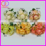 2016 wedding 6 colors available 7 heads artificial roses with hydrangea petals