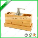 Wholesale China Small Bath Items Wood Plastic Bathroom Accessories Set