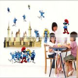 Kids Favorite Blue Elf Castle DIY Vinyl Removable Wall Stickers Kids Baby Room Nursery Door Decal Mural Home Decor DM57-0114