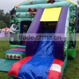 Jungle inflatable bounce combo jumper, commercial outdoor combo castle bounce house inflatable