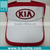LCTN1839 KIA branded cotton twill sturcted bulk sale visor cap
