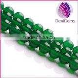 wholesale natural green agate round gemstone loose beads