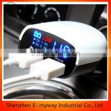 New USB Car Charger Cigarette Lighter Voltage Digital Panel Meter Volt Voltmeter Monitor for Auto Car Truck with LED Display
