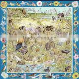 Inquiry about Custom 90*90cm Silk Twill Scarves In Stock