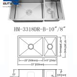 70/30 Double Bowl Stainless Steel Sink