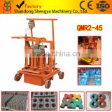 Shandong Shengya Machinery small scale movable cement hollow brick making machine QMR2-45