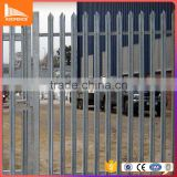 cheap price high security palisade fence panel galvanized modern fence curved top palisade fencing